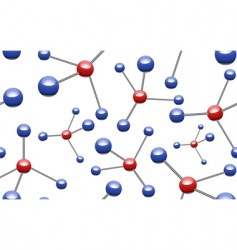 vector molecular pattern vector image
