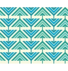 Vintage seamless pattern with triangles and pixels vector