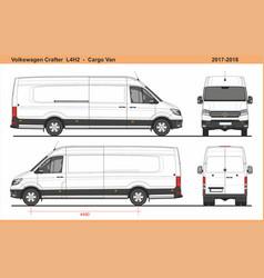 Volkswagen crafter cargo van l4h2 2017-2018 vector