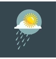 Weather rainy cloudy icon vector