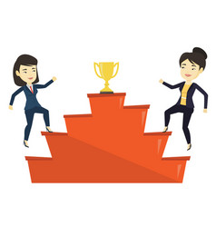 Women competing for the business award vector
