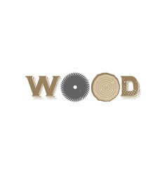 wood logo vector image