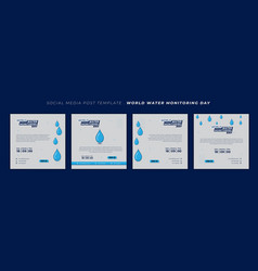 World water monitoring day design with water vector