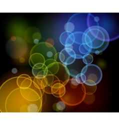 abstract night lights - highway vector image