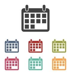 Calendar icons set vector image vector image