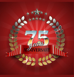 Celebrative Golden Frame for 75th Anniversary vector image vector image