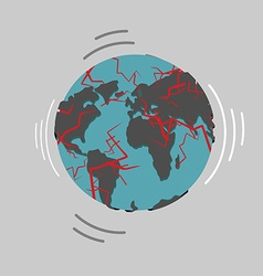 Earthquake Earth destruction Disaster fracture of vector image