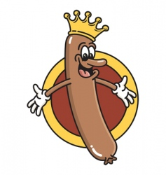 king of the wieners vector image vector image