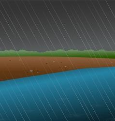 rainy river vector image vector image