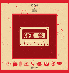 audio cassette icon vector image