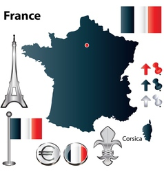 France flag small vector image vector image