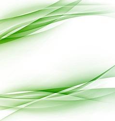 Green swoosh abstract wave folder border vector image