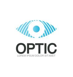 optic logo template vector image