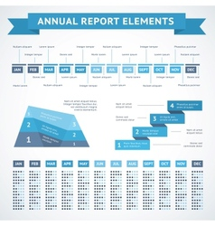 Presentation infographics charts for finance vector image vector image