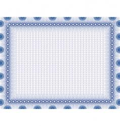 secure blank certificate vector image