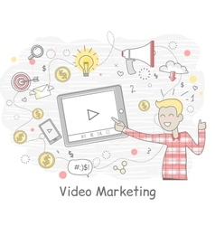 Video Marketing Business Design flat vector image vector image