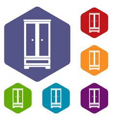 wardrobe icons set vector image