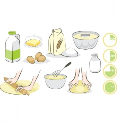 baking set vector image