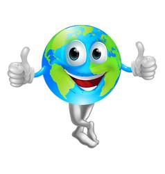 cartoon globe mascot man vector image vector image