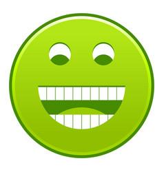 Green smiling face cheerful smiley happy emoticon vector