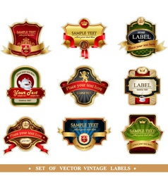 labels set vector image vector image