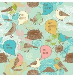 love birds background vector image vector image