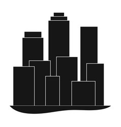 metropolisrealtor single icon in black style vector image vector image