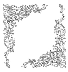 Paisley ethnic ornament vector