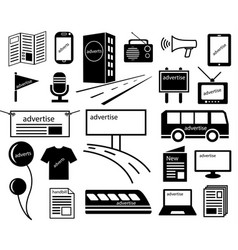 advertise channels media icon vector image vector image