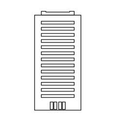 Building black color icon vector