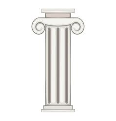 Column icon cartoon style vector image vector image