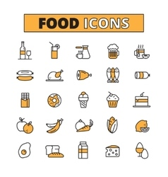 Food And Drink Line Icons Set vector image vector image