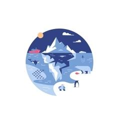 Iceberg in sea or ocean vector image