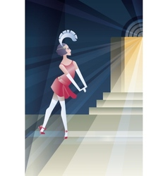 Roaring 20s poster with flappers near club night vector image