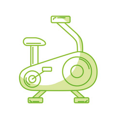 silhouette bike machine to do exercise and healthy vector image