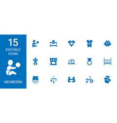 15 newborn icons vector