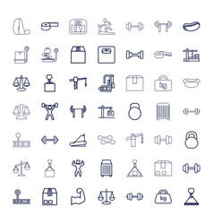 49 weight icons vector