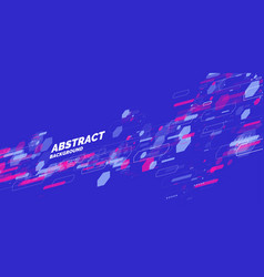 Abstract background with dynamic shapes vector