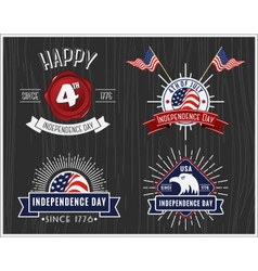 American Independence Day Badge Collection vector
