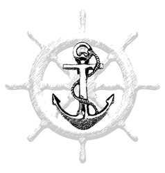 Anchor Hand drawn 2 vector