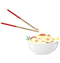Asian rice seafood vector