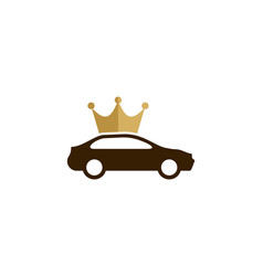automotive king logo icon design vector image