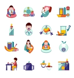 Baby Feeding Icons vector