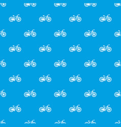 Bicycle pattern seamless blue vector
