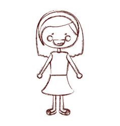 Blurred contour smile expression cartoon short vector