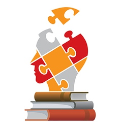 Books education concept vector image