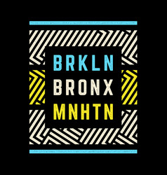 Brooklyn retro print vector