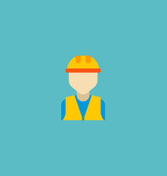 Builder icon flat element of vector