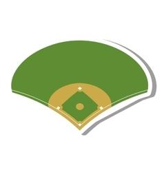 camp diamond baseball sport vector image vector image