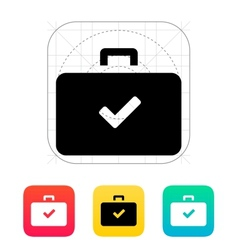Check case icon vector
